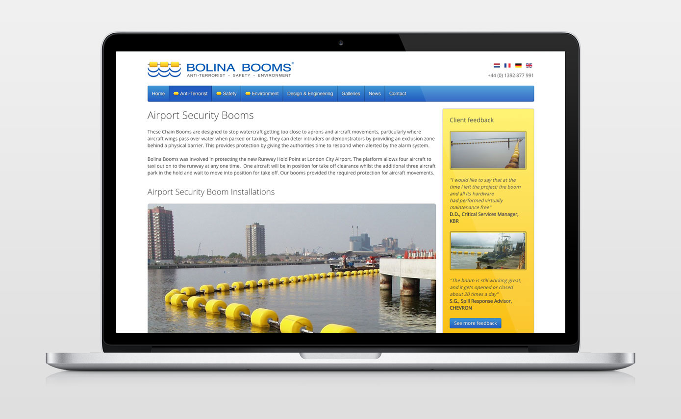 Bolina Booms industry leaders in supplying booms